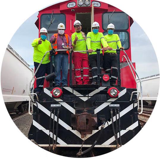 Equipo Ferrocap en Curso Operación Segura de Locomotora.
