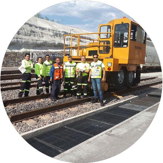 Curso Operación Segura de Tractocarril o Remolcador, equipo ferroviario.