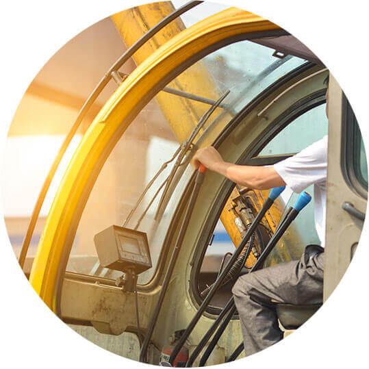 Operación segura y óptima de grúas en la industria ferroviaria.